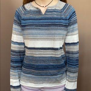 Striped Eddie Bower Cotton Sweater